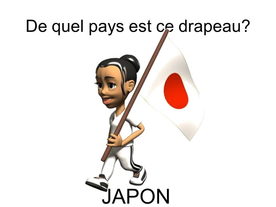 De quel pays est ce drapeau? JAPON