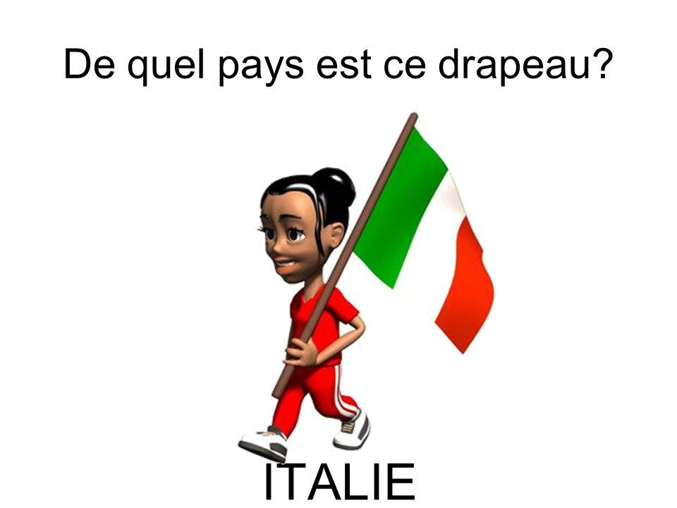 De quel pays est ce drapeau? ITALIE