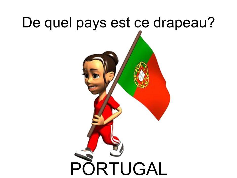 De quel pays est ce drapeau? PORTUGAL