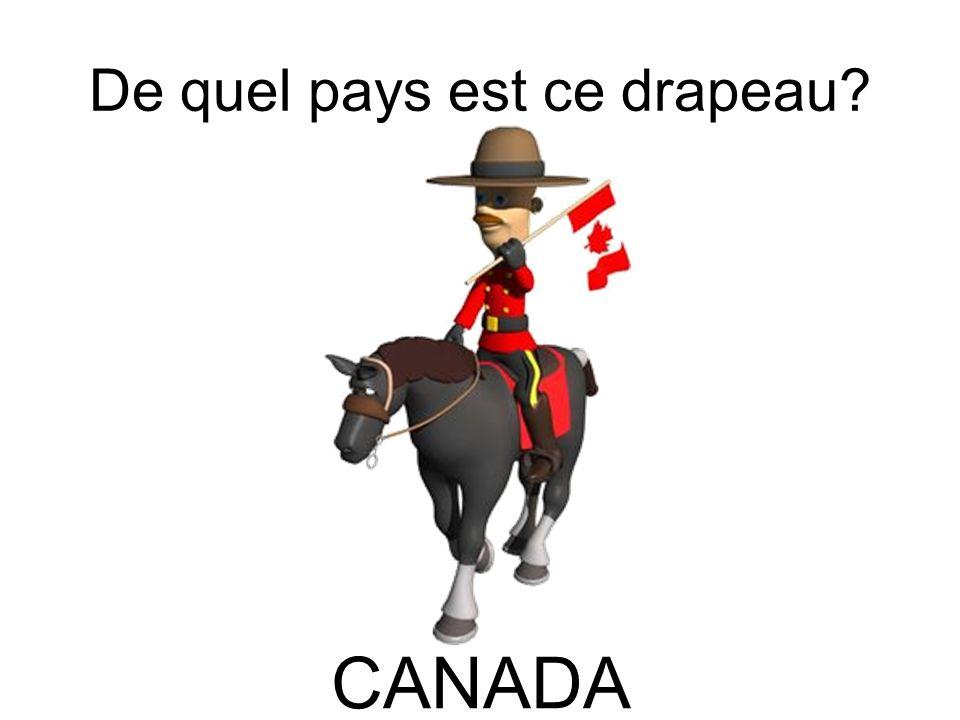 De quel pays est ce drapeau? CANADA