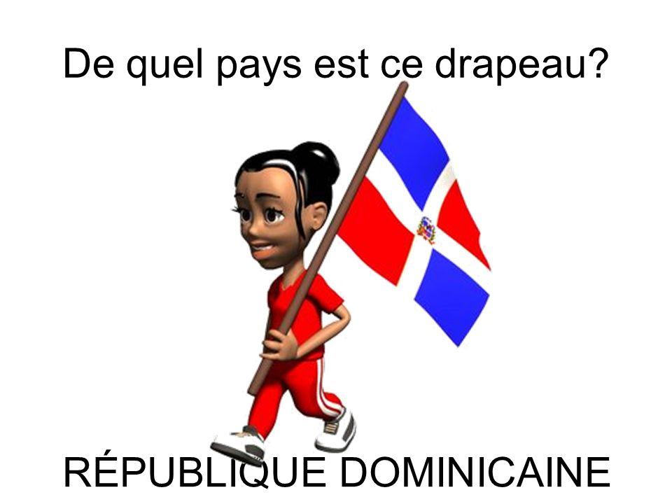 De quel pays est ce drapeau? RÉPUBLIQUE DÉMOCRATIQUE DU CONGO