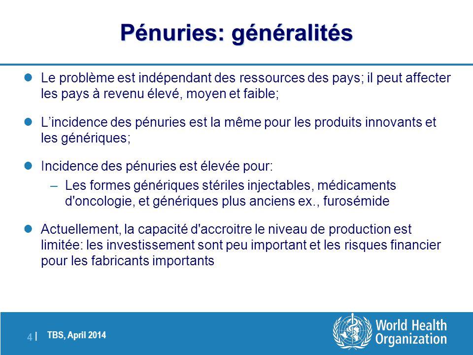 TBS, April 2014 4 |4 |  Le problème est indépendant des ressources des pays; il peut affecter les pays à revenu élevé, moyen et faible;  L'incidence