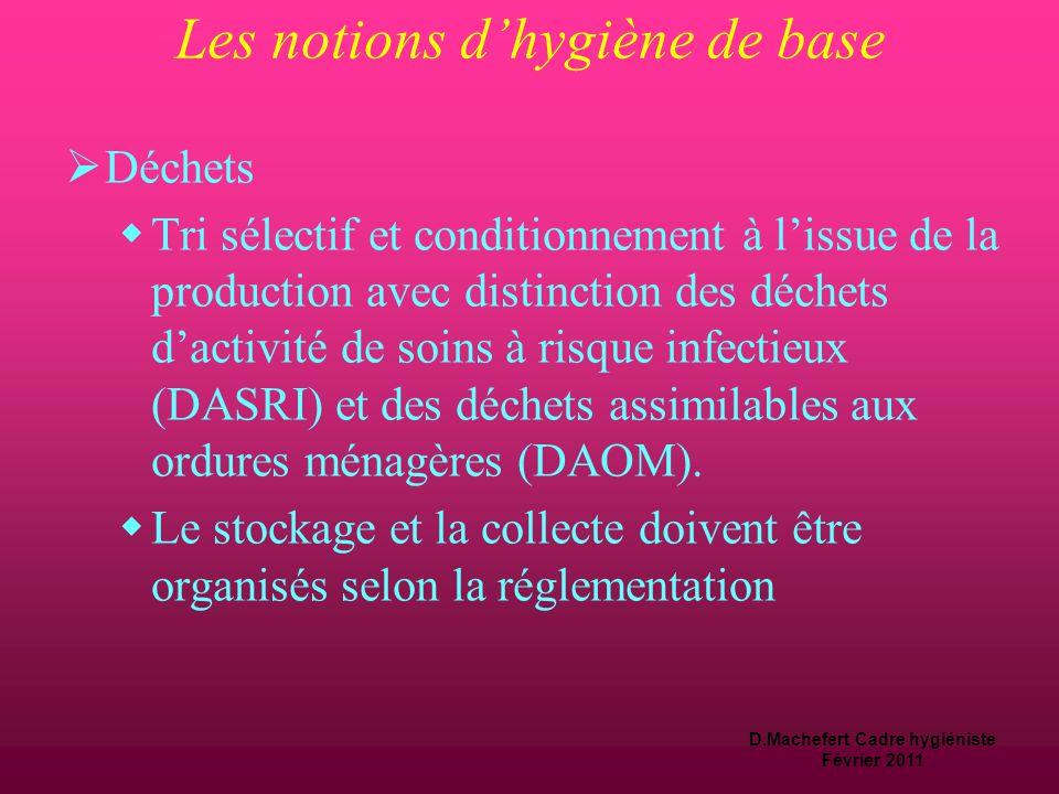 D.Machefert Cadre hygiéniste Février 2011 Utilisation du linge  Dans l'armoire de linge ne pas entamer plusieurs paquets à la fois  Le linge install