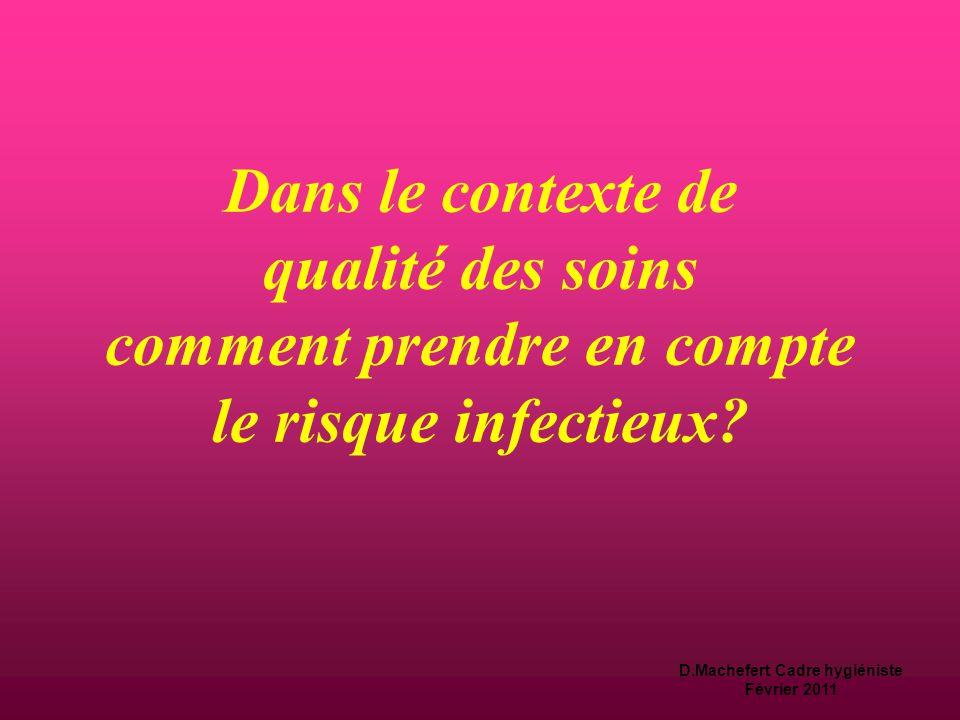 D.Machefert Cadre hygiéniste Février 2011 La qualité des soins  L'Art.