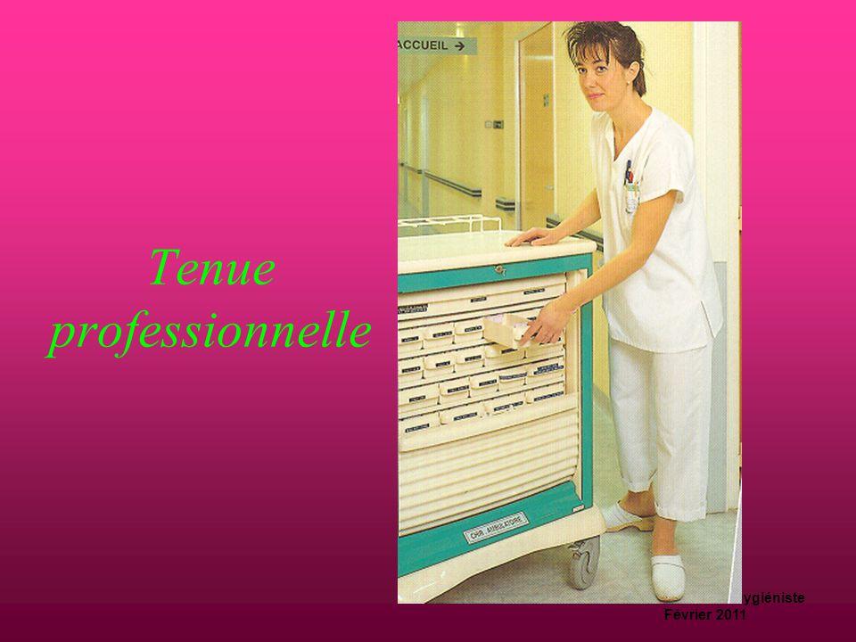 D.Machefert Cadre hygiéniste Février 2011 Hygiène corporelle  Douche quotidienne avant prise de fonction  Linge de corps propre  cheveux propres et