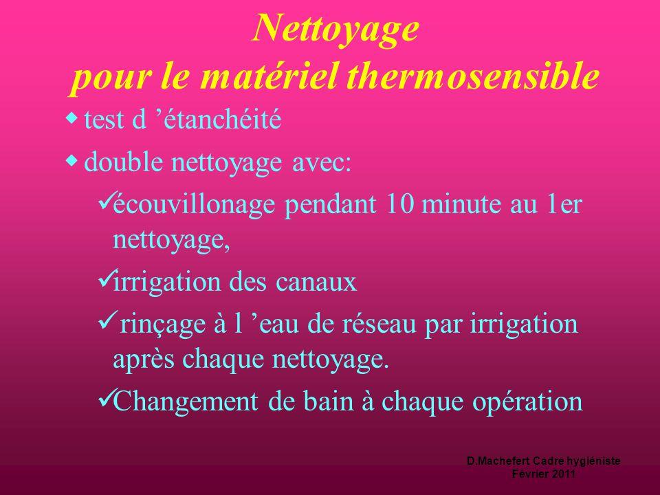 D.Machefert Cadre hygiéniste Février 2011 Nettoyage  éliminer les salissures par les matières organique (pus, sang, sécrétions…) et donc réduire le n