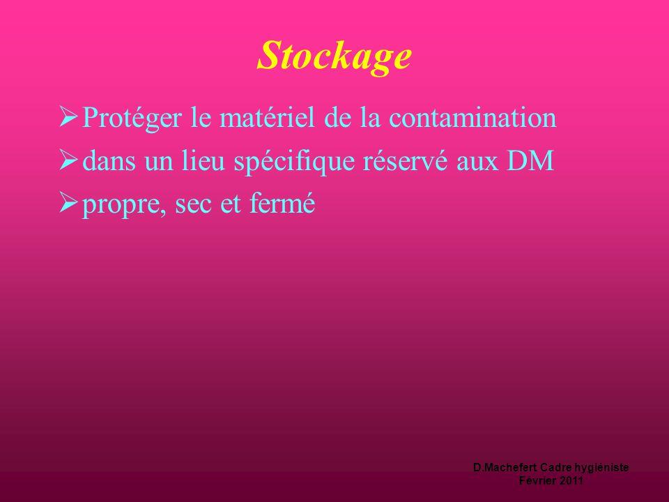 D.Machefert Cadre hygiéniste Février 2011 Séchage  Protection du matériel désinfecté de toute trace d 'humidité, pour éviter la contamination  modal