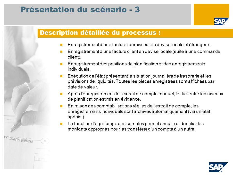 Présentation du scénario - 3  Enregistrement d'une facture fournisseur en devise locale et étrangère.