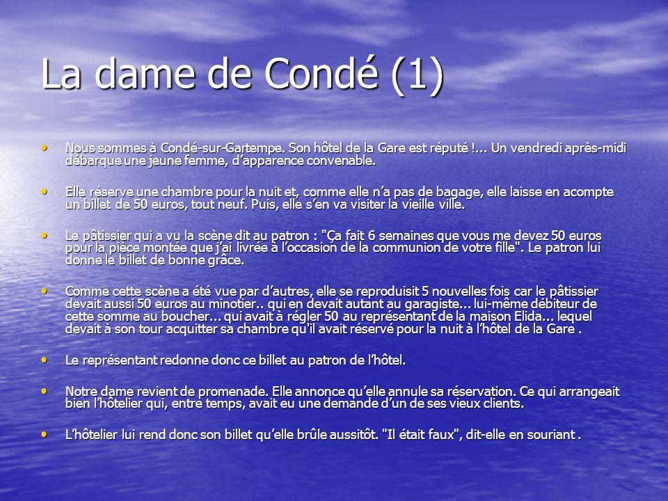 La dame de Condé (1) • Nous sommes à Condé-sur-Gartempe.