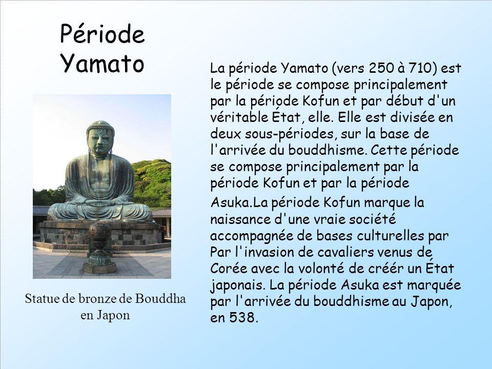 La période Yamato (vers 250 à 710) est le période se compose principalement par la période Kofun et par début d'un véritable État, elle. Elle est divi