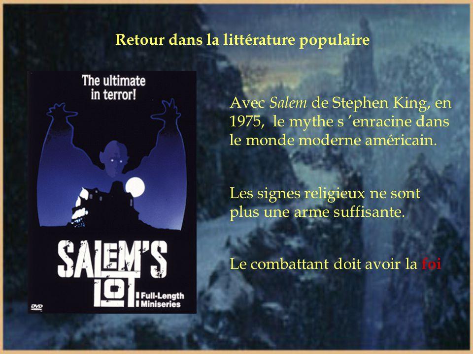 Les années 1930 Lorsque le cinéma le récupère, la littérature l 'évacue... Le vampire perd de son mordant