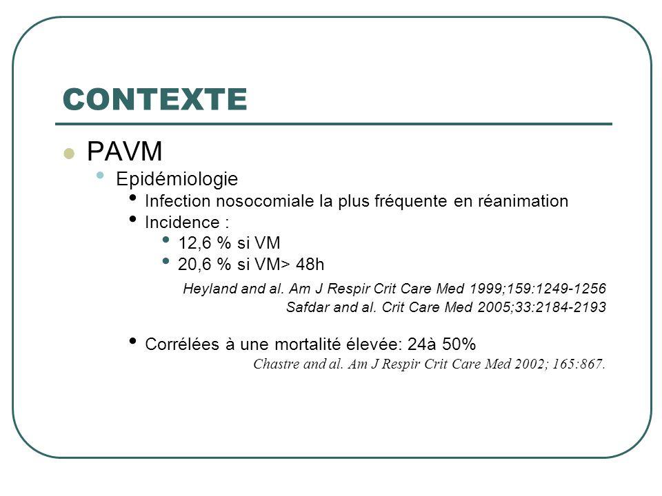 DESIGN  METHODES: • Diagnostic de PAVM: • Au moins 1 germe à 10 4 CFU mL -1 • En distinguant les PNP précoces ( 5 jours) • Plusieurs PAVM possibles par patient