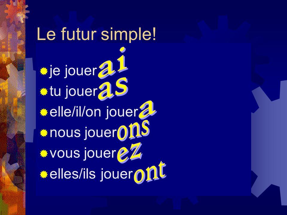 Le futur simple.