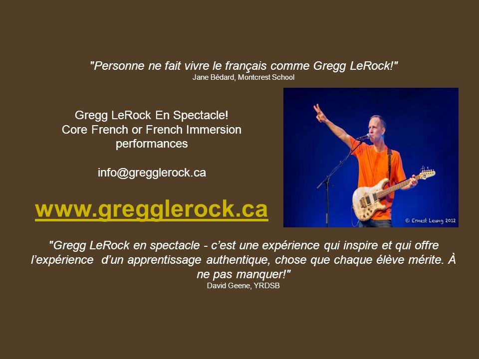 Gregg LeRock En Spectacle.