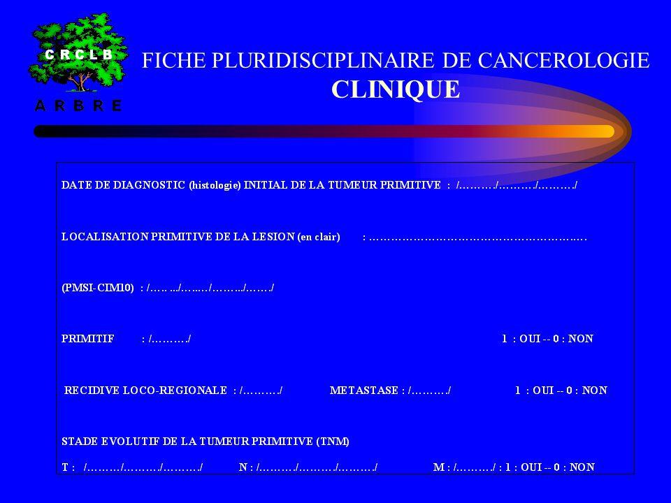 FICHE PLURIDISCIPLINAIRE DE CANCEROLOGIE CLINIQUE
