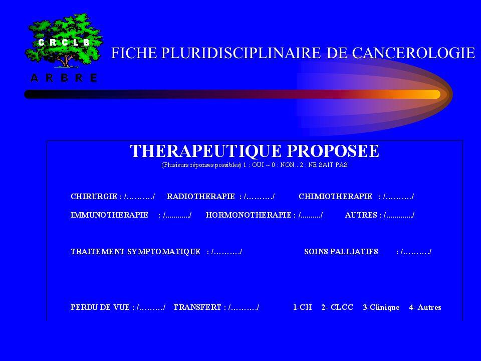 FICHE PLURIDISCIPLINAIRE DE CANCEROLOGIE