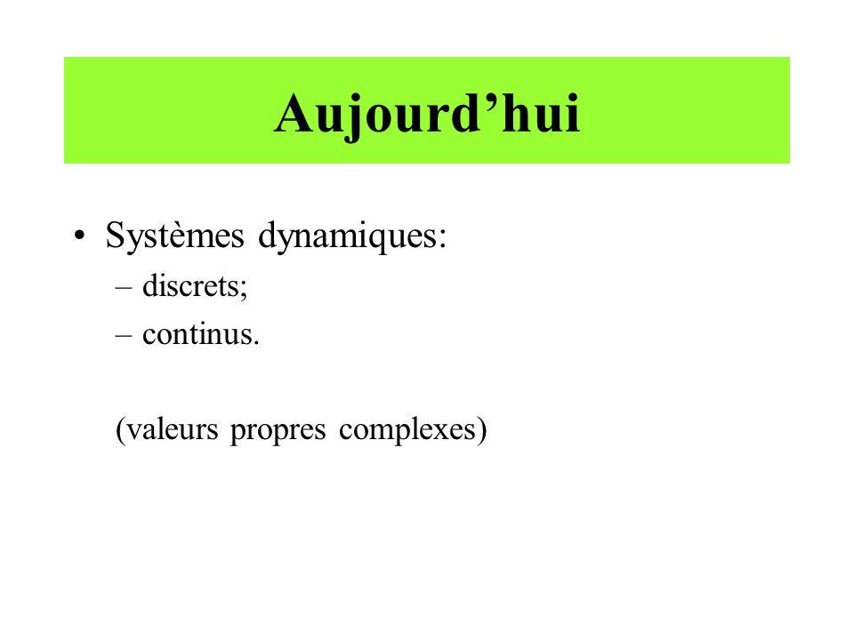 Systèmes continus - solutions •Une solution de ce système est une fonction satisfaisant x' = Ax pour t  0, par exemple.