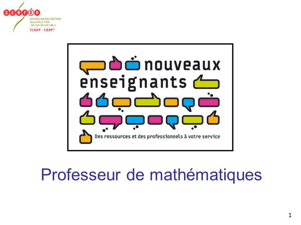 1 Professeur de mathématiques