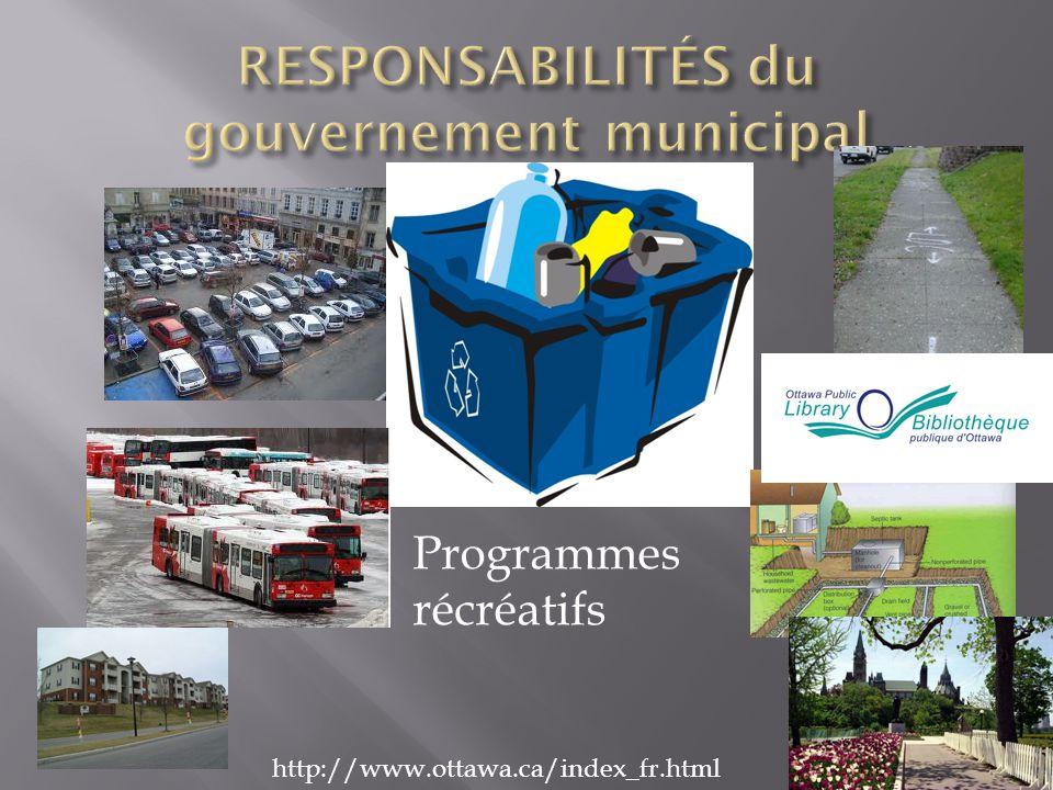 Programmes récréatifs http://www.ottawa.ca/index_fr.html