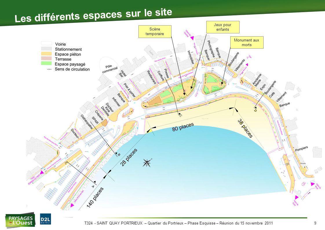 T324 - SAINT QUAY PORTRIEUX – Quartier du Portrieux – Phase Esquisse – Réunion du 15 novembre 201110 Le marché: été / hiver Marché d'hiver Marché d'été