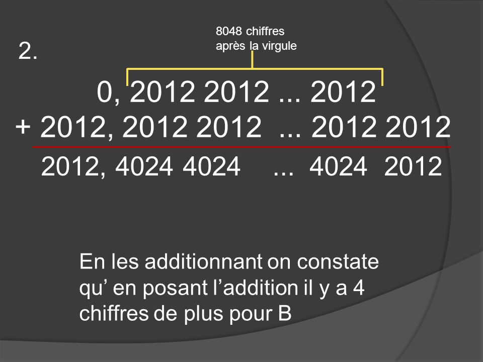 0, 2012 2012... 2012 + 2012, 2012 2012...