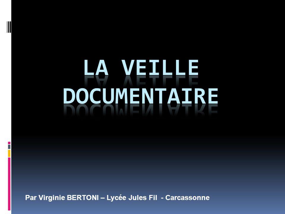 Par Virginie BERTONI – Lycée Jules Fil - Carcassonne