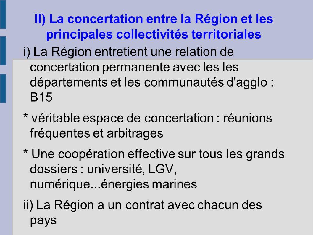i) une relation particulière de l Etat avec la région : première Coder, plan routier breton...