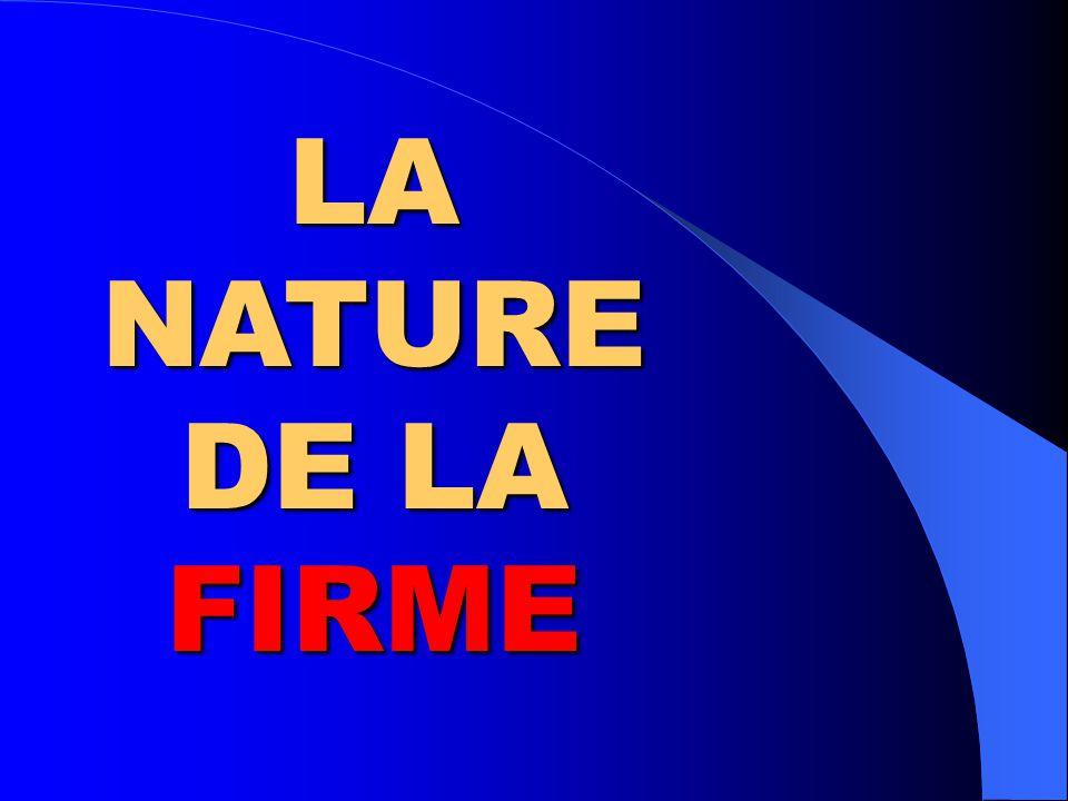LA NATURE DE LA FIRME Travail présenté à: Monique Dugal Monique Dugal Sylvie Croteau Philippe Lampron Sylvie Giroux Par: Sylvie Giroux UQAM – FPE 7650-60 Hiver 2005 – 26 février 2005