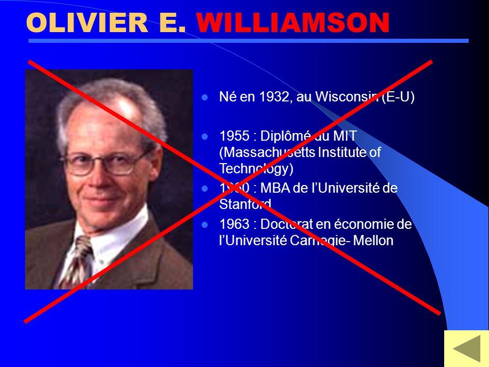 économiste Qui fût le premier économiste à expliquer l'existence d'une firme ? LA NATURE DE LA FIRME SIMON COASE WILLIAMSON