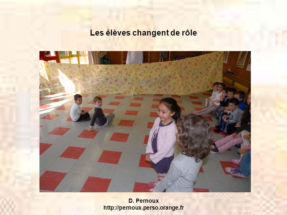 D. Pernoux http://pernoux.perso.orange.fr Les élèves changent de rôle
