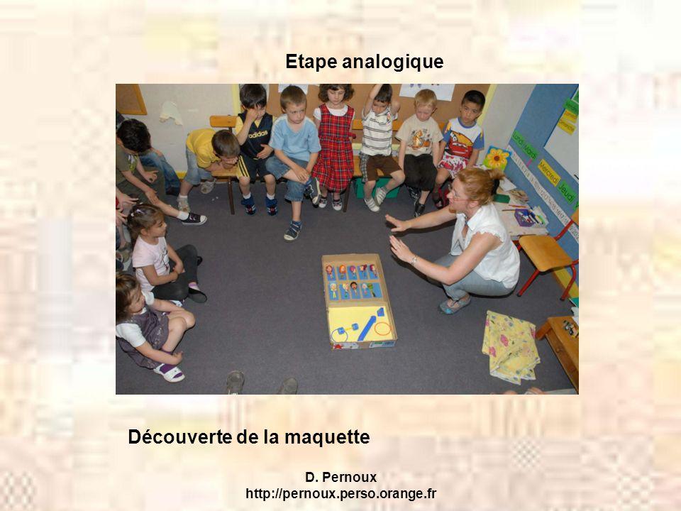 D. Pernoux http://pernoux.perso.orange.fr Etape analogique Découverte de la maquette