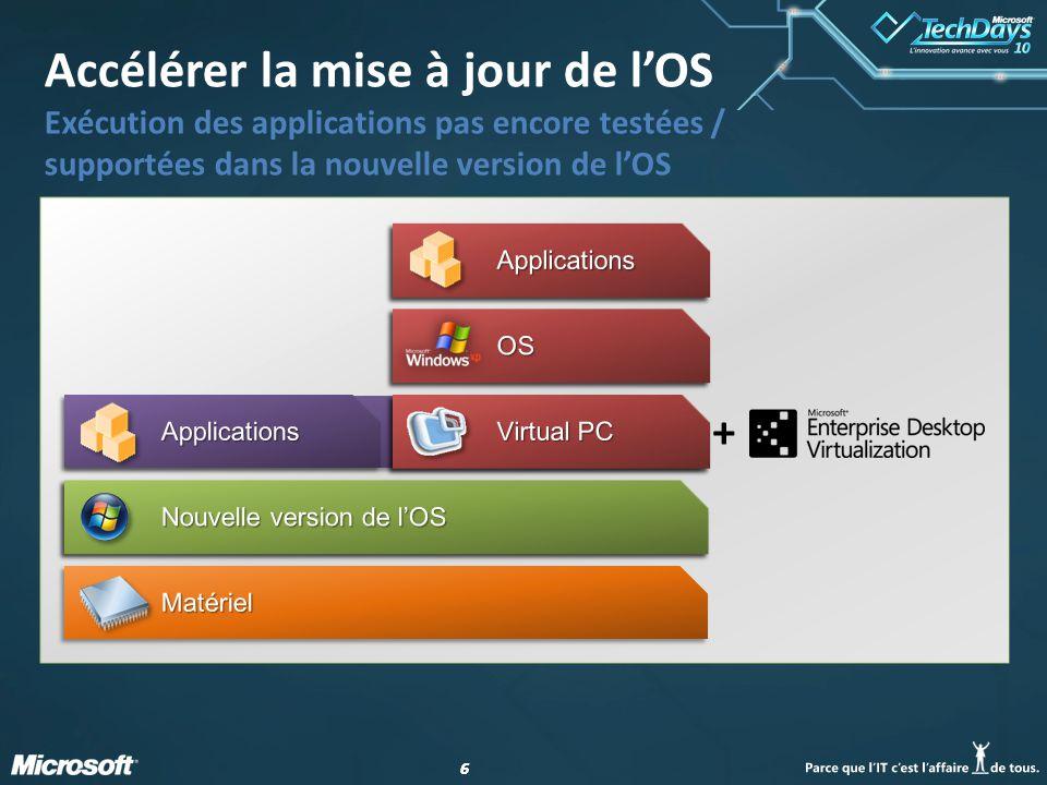 66 Accélérer la mise à jour de l'OS Exécution des applications pas encore testées / supportées dans la nouvelle version de l'OS