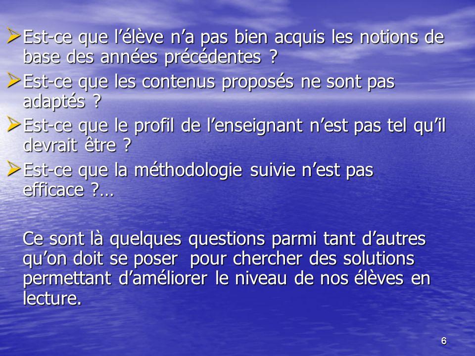 47  Consigne 2 : • Qu est ce qui fait que nos élèves trouvent des difficultés à comprendre un écrit.