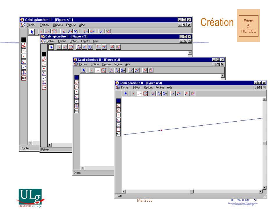 Mai 2005 Création