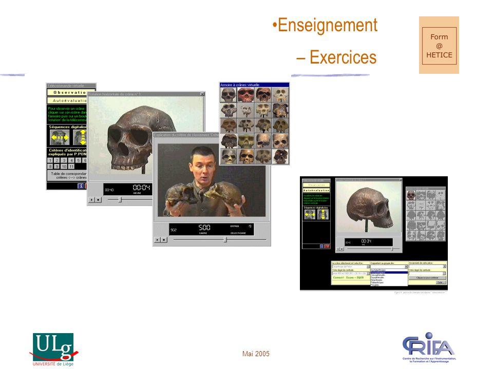 Mai 2005 •Enseignement – Exercices