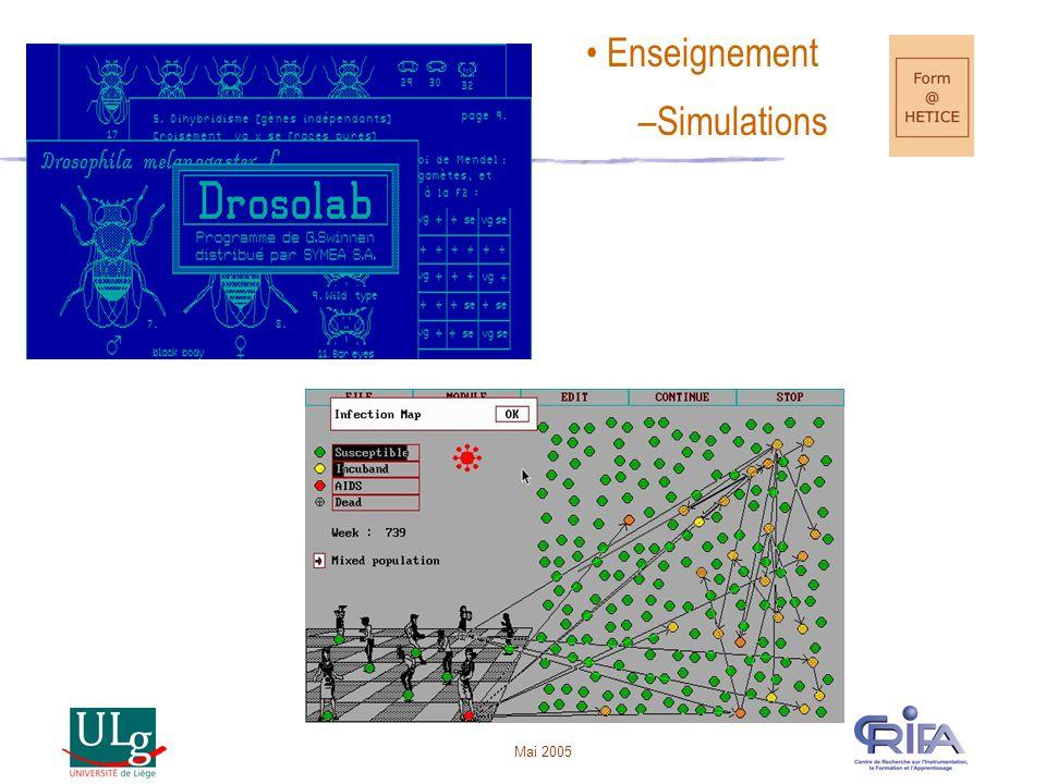 Mai 2005 Combinaison d'UPO •Pour mener une activité d'apprentissage => combinaison d'UPO •« TFE » - G.