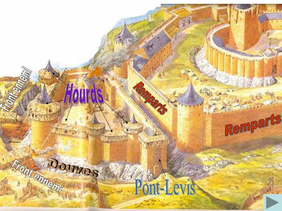 La bataille tourne mal, les habitants du château résistent malgré les armes de destructions « massives » de l'époque. La seule chance pour eux de s'en