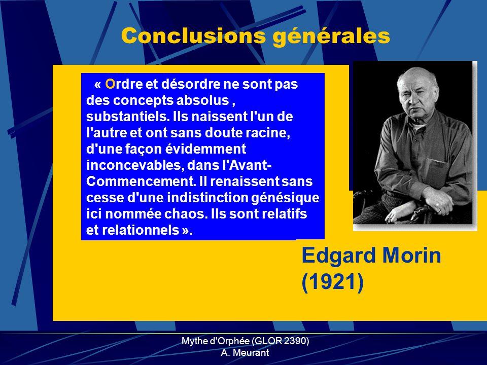 Mythe d Orphée (GLOR 2390) A.
