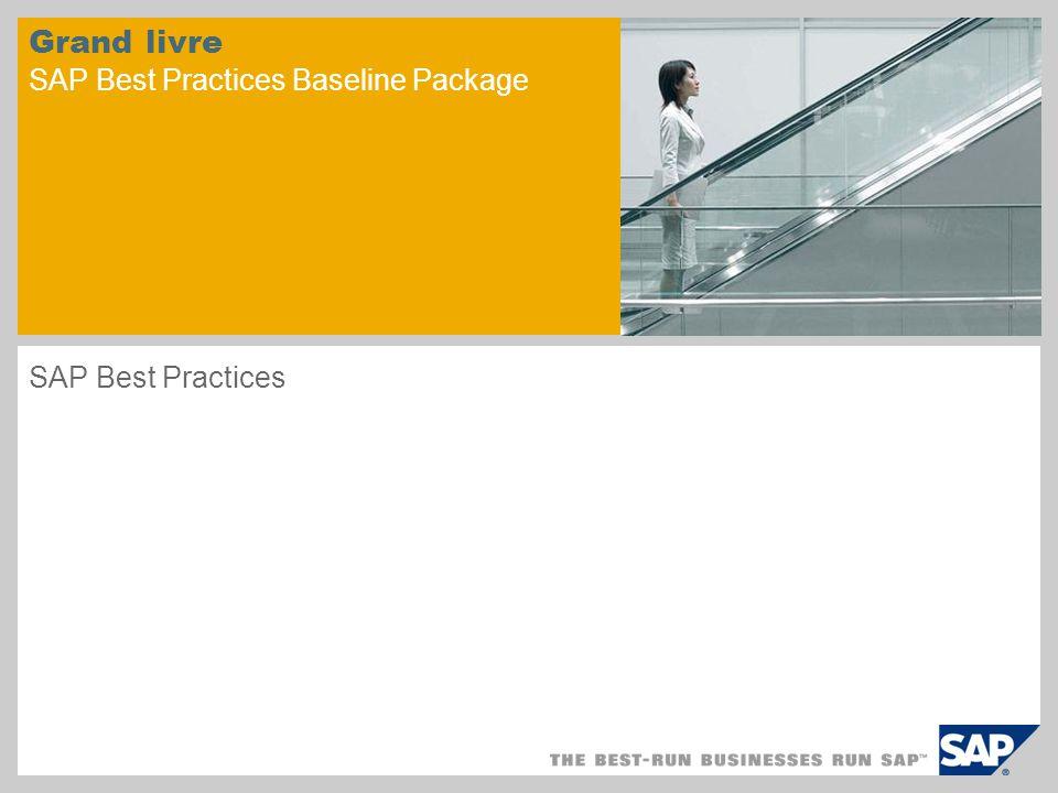 Grand livre SAP Best Practices Baseline Package SAP Best Practices