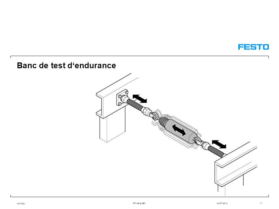 OI-M/DLI IPT Asia 200104.07.201417 Banc de test d'endurance