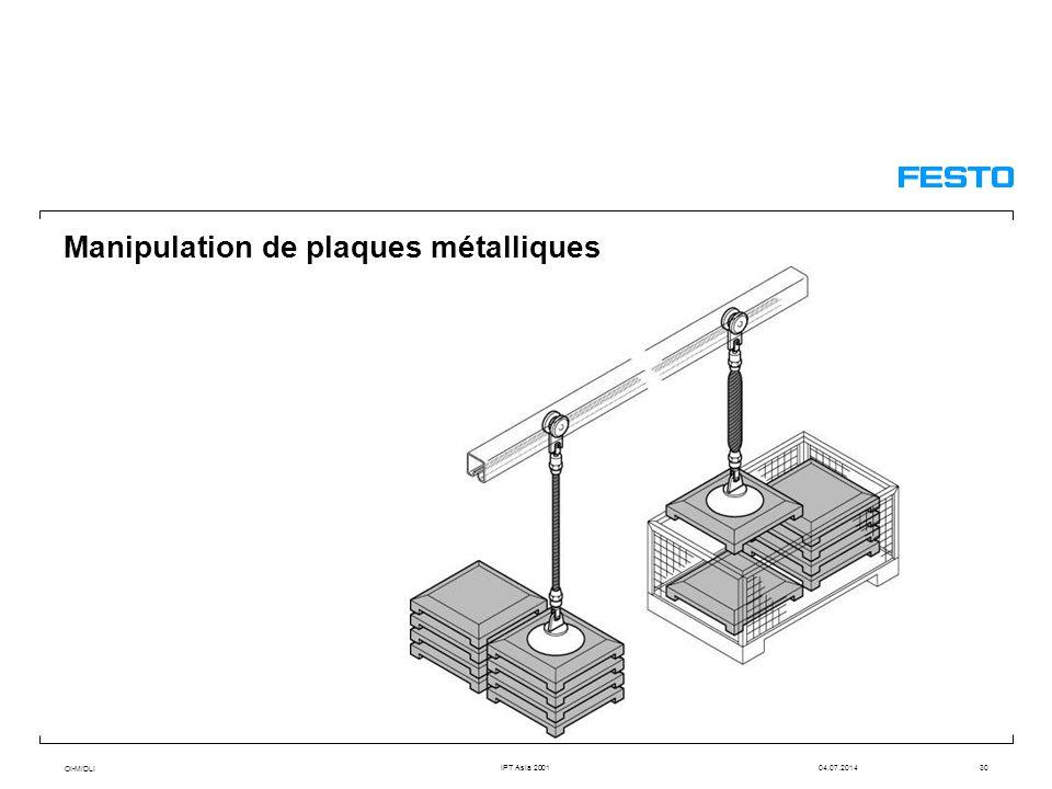 OI-M/DLI IPT Asia 200104.07.201430 Manipulation de plaques métalliques