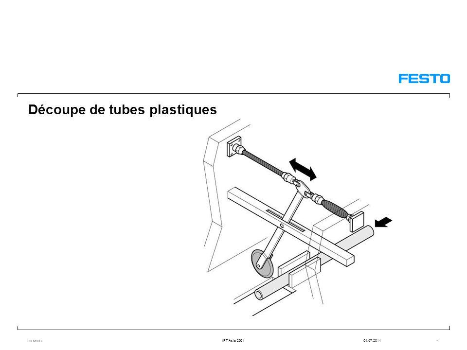 OI-M/DLI IPT Asia 200104.07.20144 Découpe de tubes plastiques