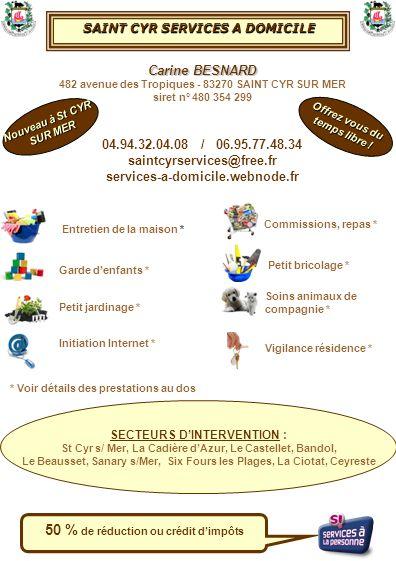 SAINT CYR SERVICES A DOMICILE A DOMICILE