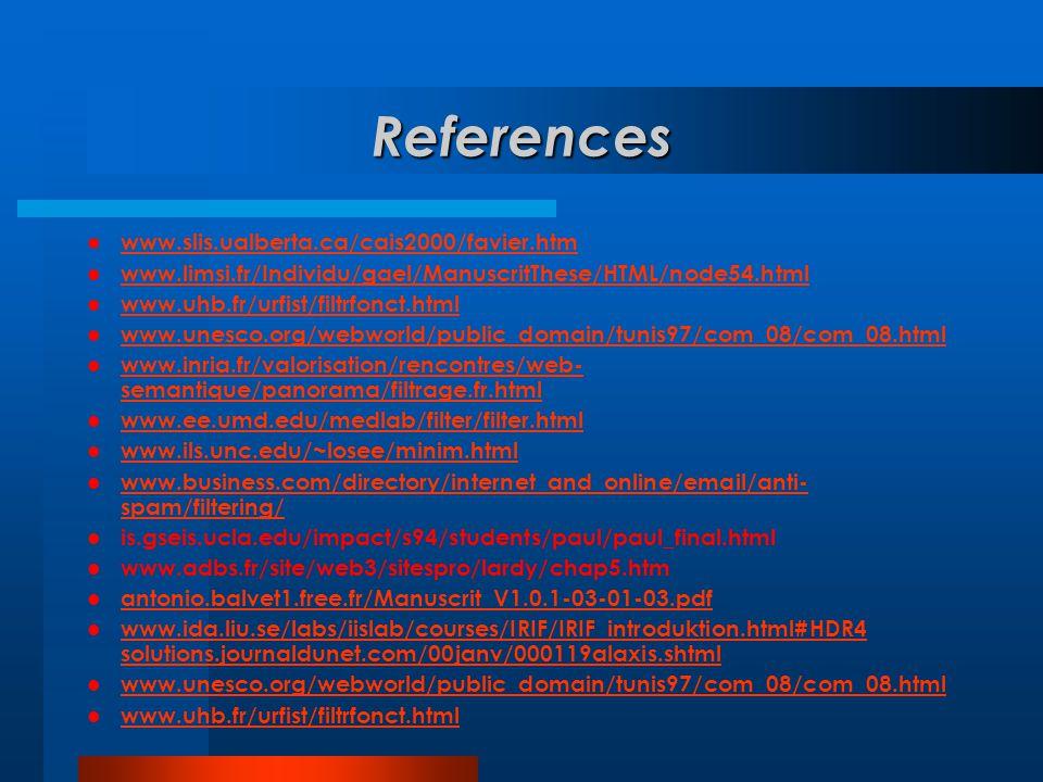 References  www.slis.ualberta.ca/cais2000/favier.htm www.slis.ualberta.ca/cais2000/favier.htm  www.limsi.fr/Individu/gael/ManuscritThese/HTML/node54