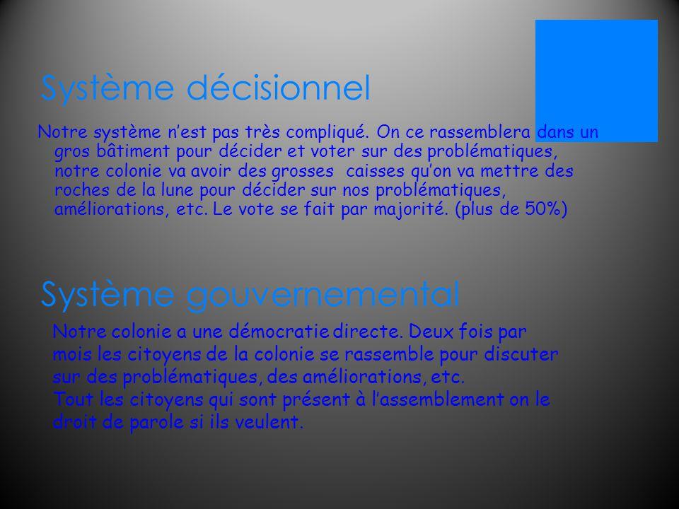 Système décisionnel Notre système n'est pas très compliqué.