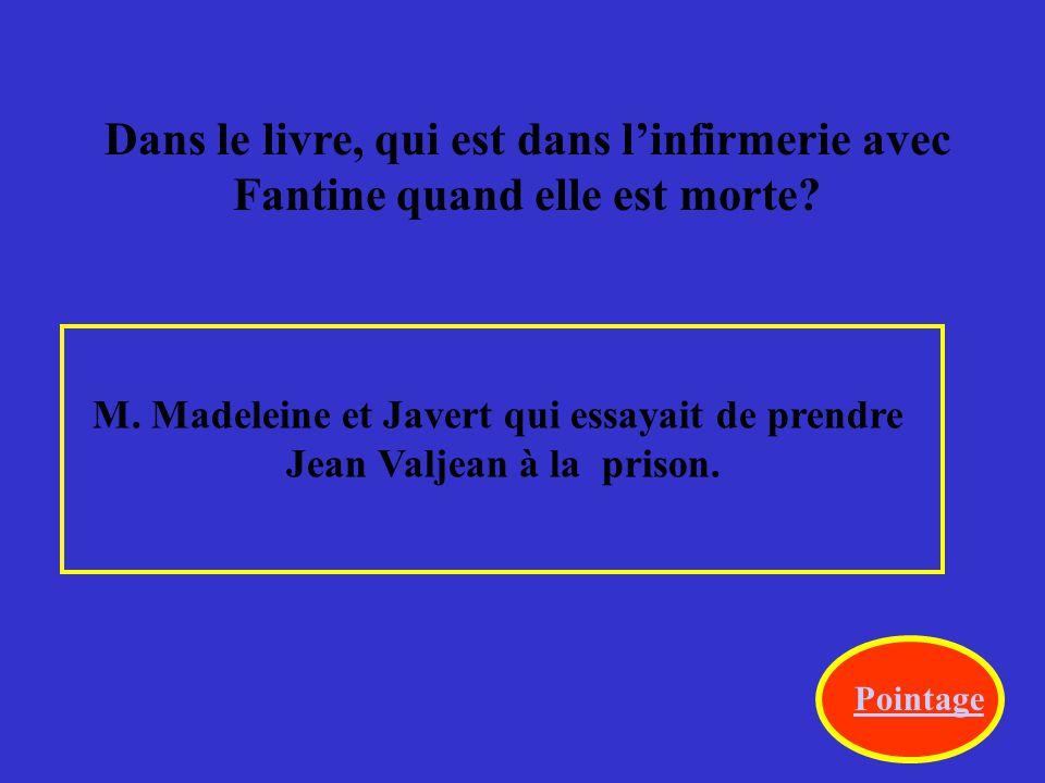Après que Javert a su que M. Madeleine était vraiment Jean Valjean, quelle était sa réaction.