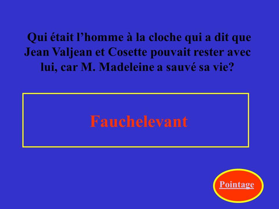 Dans le livre, qui est dans l'infirmerie avec Fantine quand elle est morte.