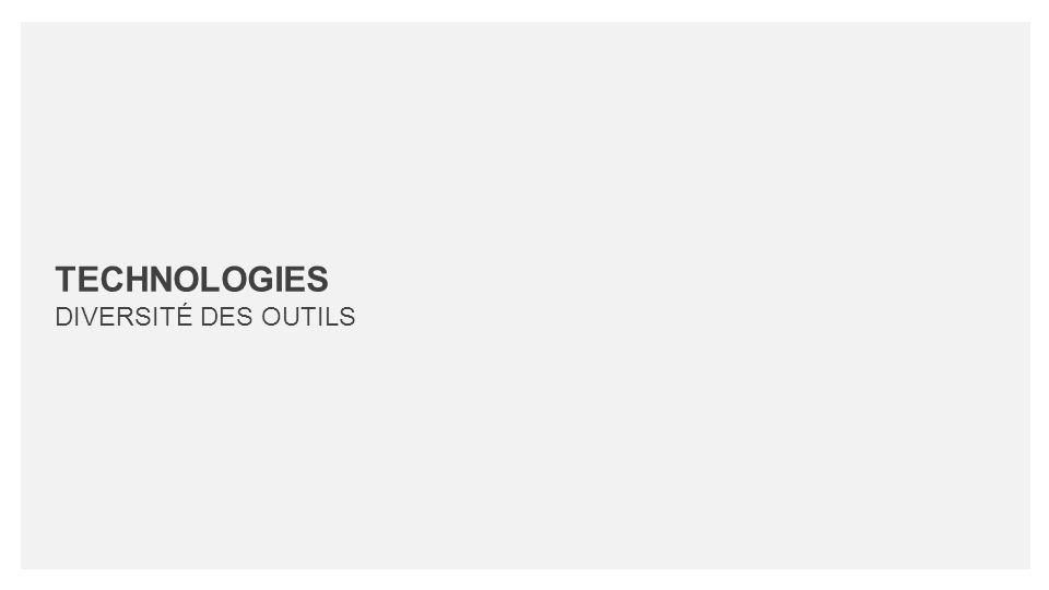 TECHNOLOGIES DIVERSITÉ DES OUTILS