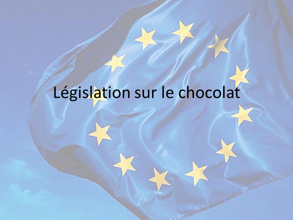 Nouvelle directive La nouvelle directive concernant l'ajout de matières grasses végétales ……… dans le chocolat à été définitivement adoptée par l'union Européenne le ……………… et publiée dans le journal officiel du ………………..