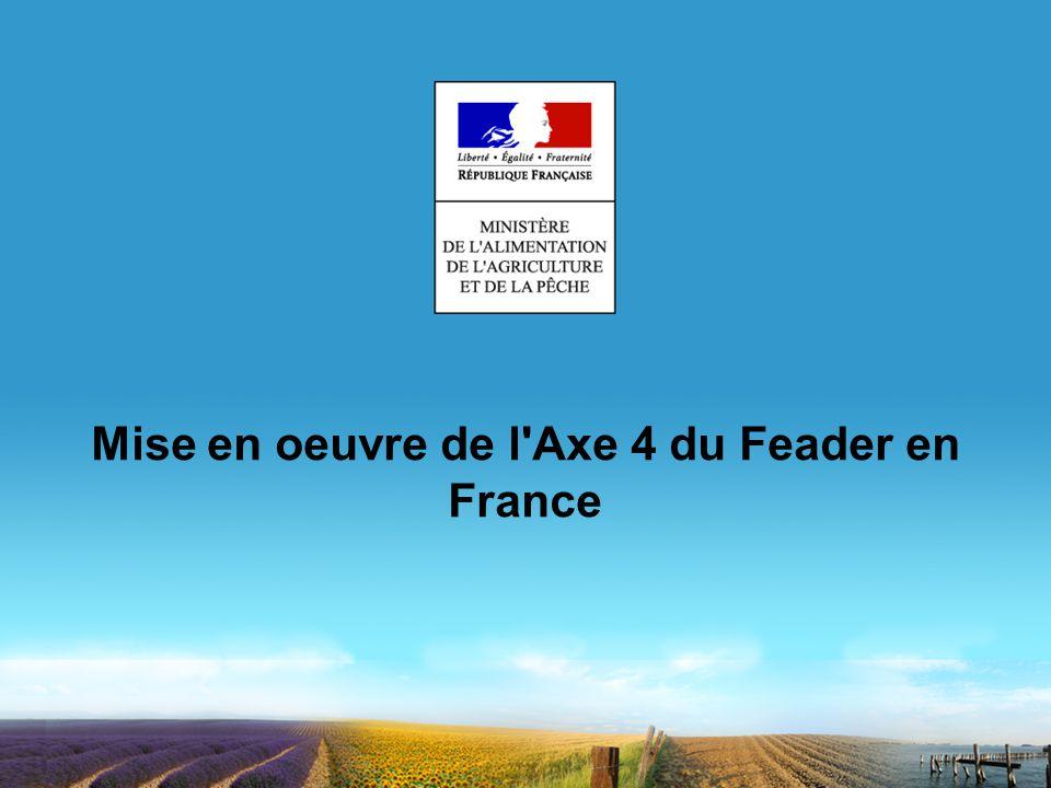 Mise en oeuvre de l Axe 4 du Feader en France
